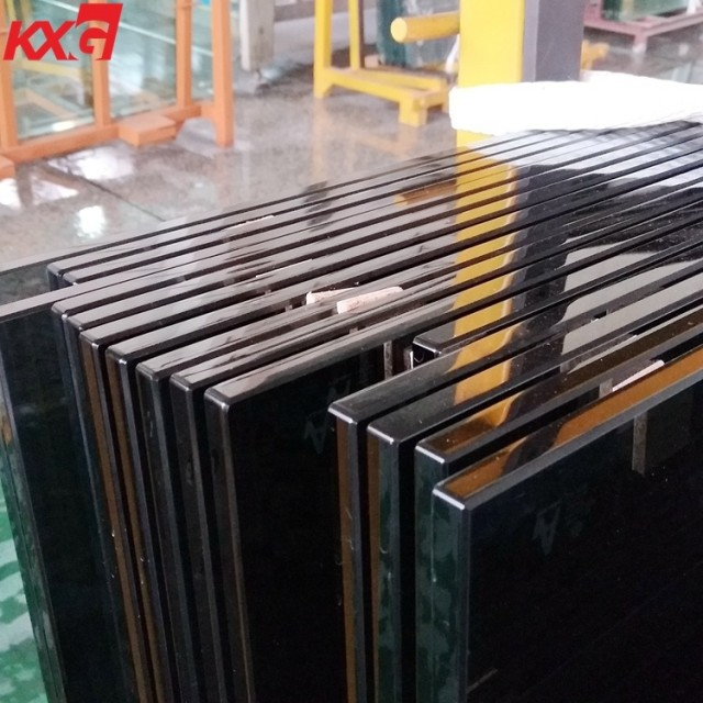Kunxing glass factory produce safety 8mm dark gray tempered glass
