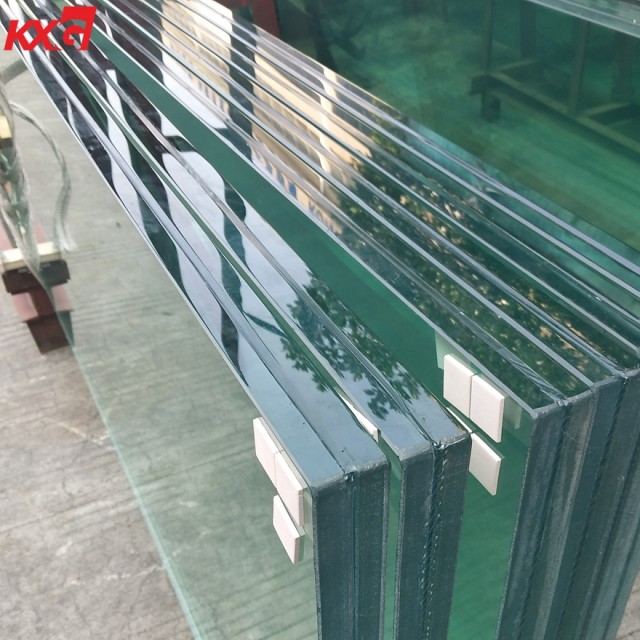 clear tempered SGP laminated glass produce by KXG glass factory