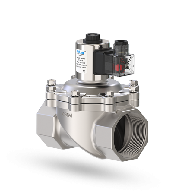 Semi Lift Diaphragm Operated Solenoid Valve Normally Closed