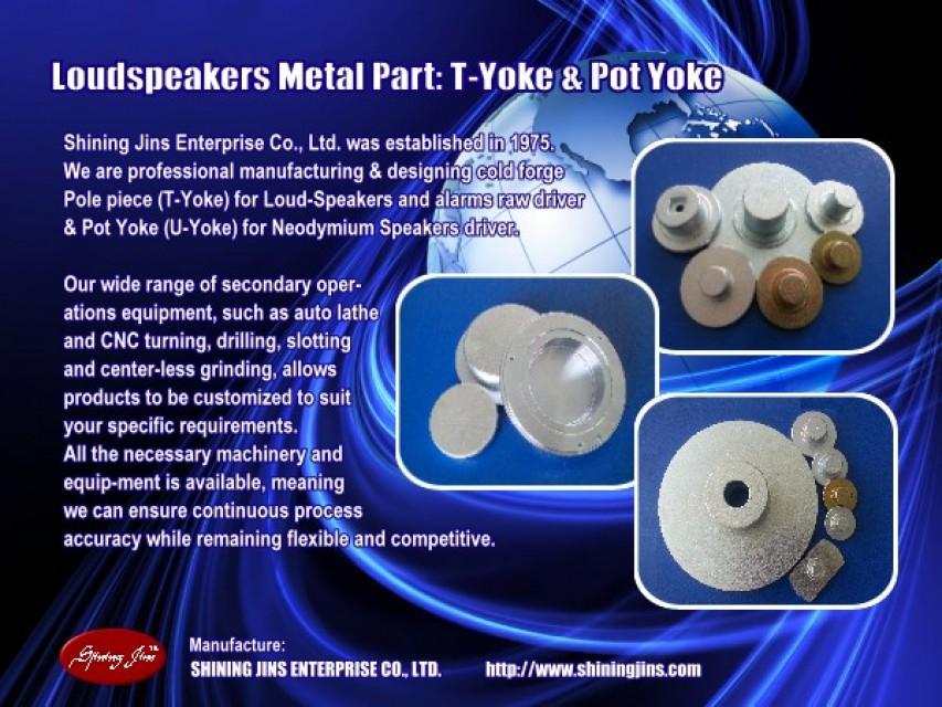 Pole Piece (T-Yoke) for Loudspeaker Motor Assembly
