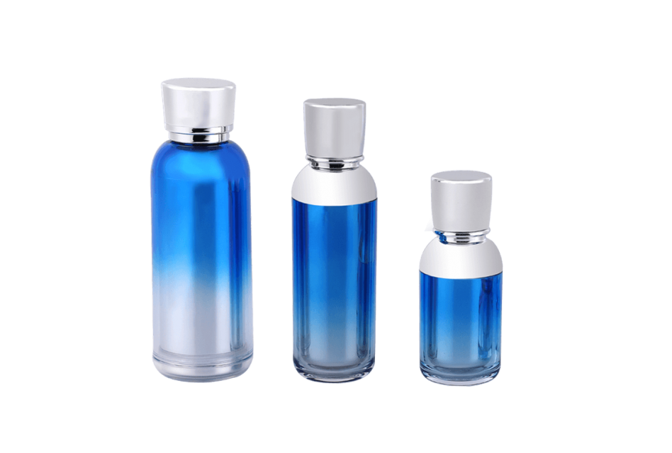 Gradient Blue Plastic Thick-Walled Lotion bottle