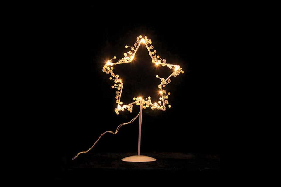 Warm White Led Metal Star Table Light