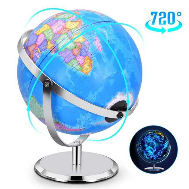 2 in 1 Interactive World Globe, Night View Stars  Constellation Globe