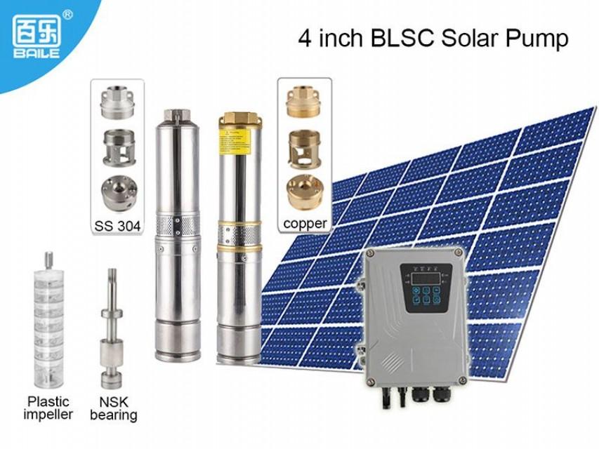 "Solar pump irrigation  solar power submersible pump  4"""