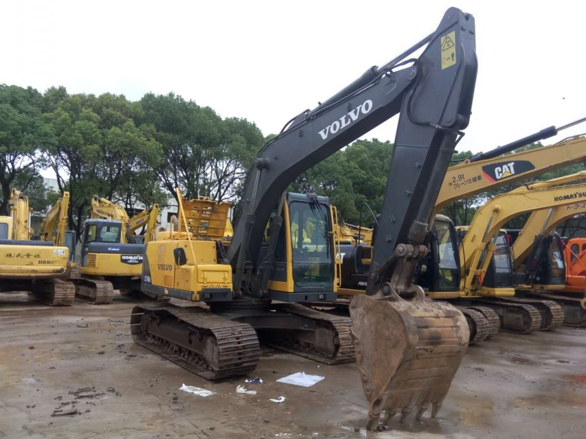 durable  80% new Volvo 140 used excavator imported from Europe