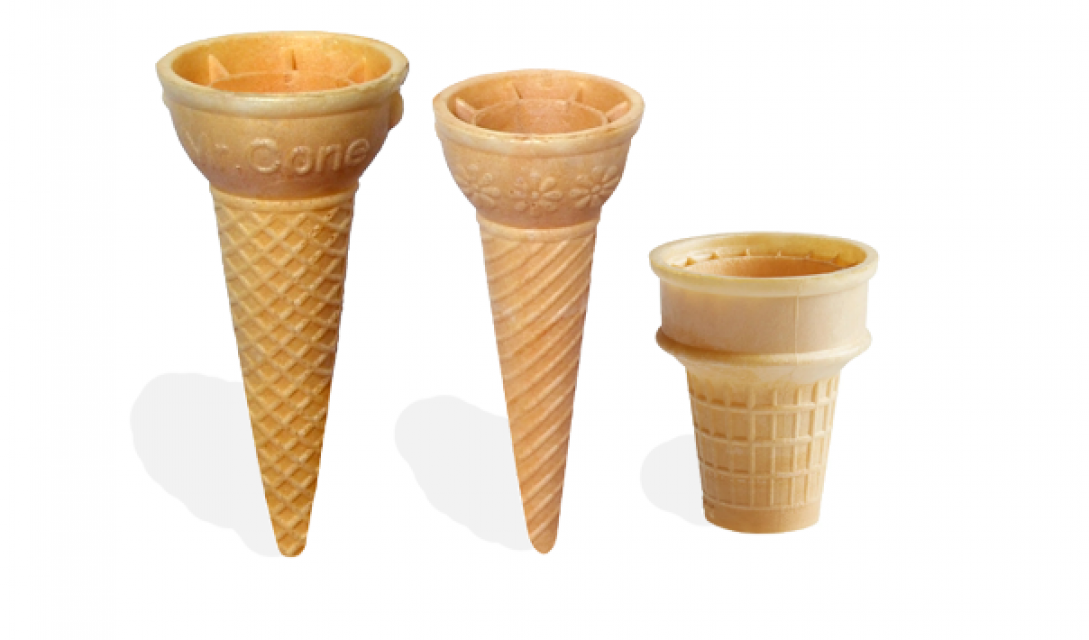Ice cream biscuits cone