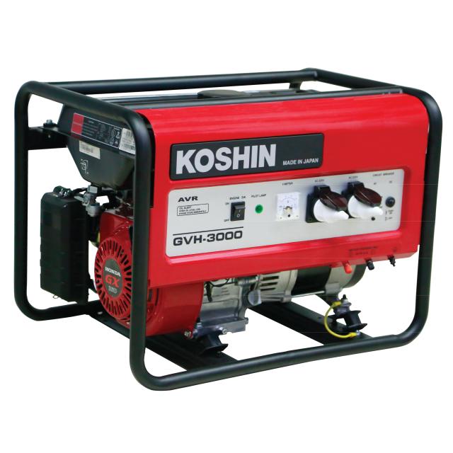 KOSHIN HONDA GX160 Gasoline Generator GVH-3000