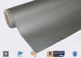 0.45mm High Temperature Resistant Silver Grey Silicone Coated Fibergla