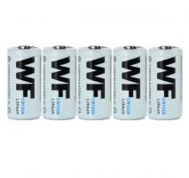 50pcs/lot  WF CR123A 1600mAh  Lithium Battery
