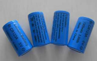 CR123A  1300mAh 3.0v with PTC Lithium Battery