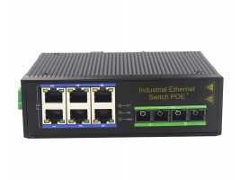100M 2 FIber Ports 6 Electric Ports Industrial-grade Ethernet Switch