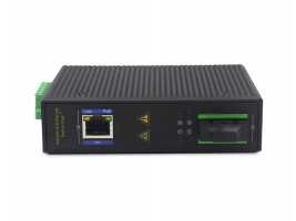 1 Fiber Port 1 Electric Port Gigabit Industrial-grade Ethernet Switch