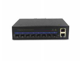 Gigabit 8 Fiber Ports 2 Electric Ports Industrial Ethernet switch