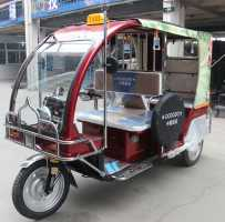 taxi passenger rickshaw, electric tricycle for 7 people, 60km/h, 120km