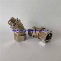 Liquid tight brass metric thread fittings with nickel plated