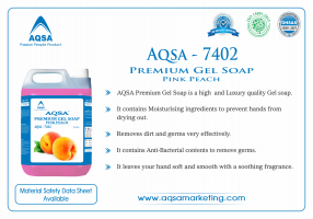 Premium Gel Soap Pink Peach (AQSA – 7402)