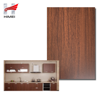 Maple Wood Grain Kitchen Decoration PVC Film Laminated Metal Steel
