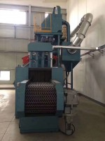 Wire Mesh Belt Continuous Shot Blasting Cleaning Machine For Steel Cas