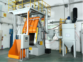 Shot Blasting Machine with automatic loading unloading system