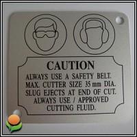Stamping Parts - Machine Name Plates