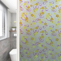 Self adhesive window film for glass decoration