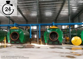 Recycling waste plastic to fuel oil plant