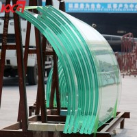 China glass factory 21.52mm extra clear curve tempered laminated glass