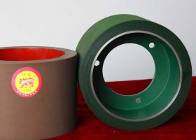 6inch Rice Rubber Roller SBR Iron Drum Roller Brown Color