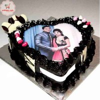 Anniversary Photo Print Cake