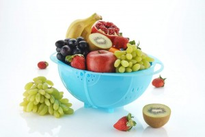 PLASTIC VEGETABLE FRUIT RICE BOWL & STRAINER CUM BASKET