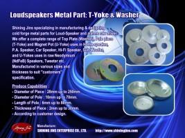 U-Yokes uses in raw Neodymium (NdFeB) Speakers, tweeter