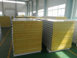 50-150mm Thickness Rockwool Sandwich Panel For Metal Wall Cladding Sys