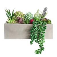 Cement artificial plant pot