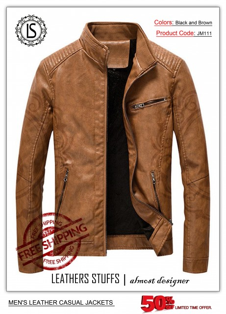 Facebook'S Leather Casual Jackets Men's   JM111 $300