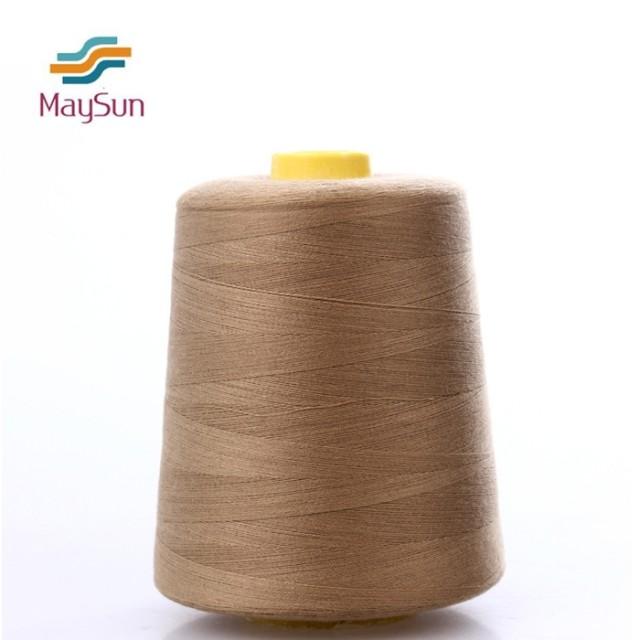 Polyester spun yarn ring spun