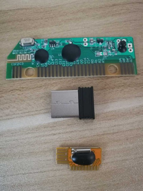 Wireless mouse transmitting module and wireless keyboard PCBA share same receiver combo set