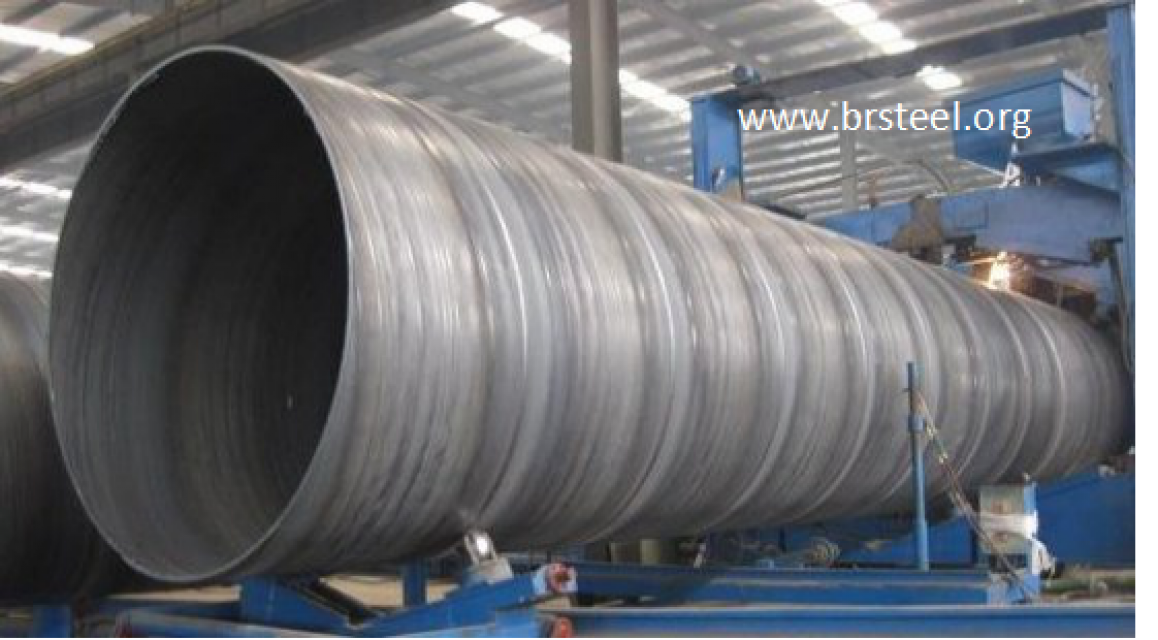 Lsaw welded black round carbon  steel pipe