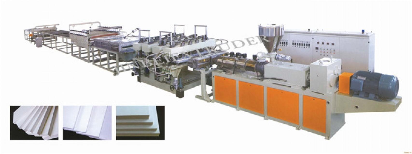 PVC crust foamed board machine