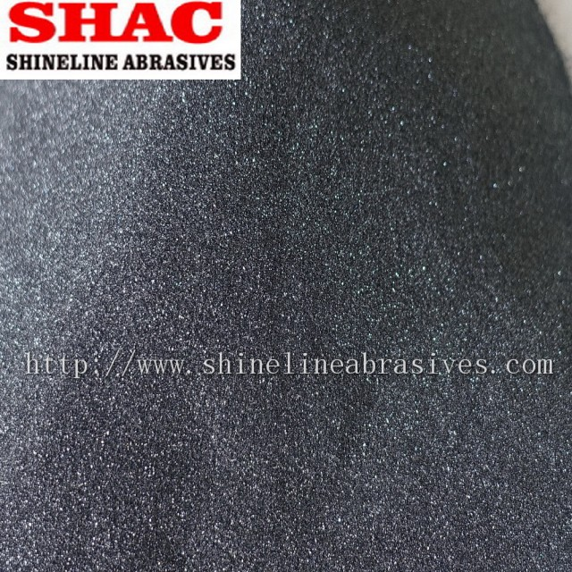 Silicon carbide grains and powder black