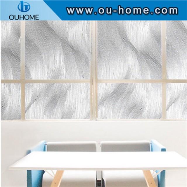 H17306 3D static No-Glue decoration privacy window glass sticker