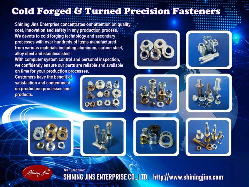 Customized cold forged and turned fasteners