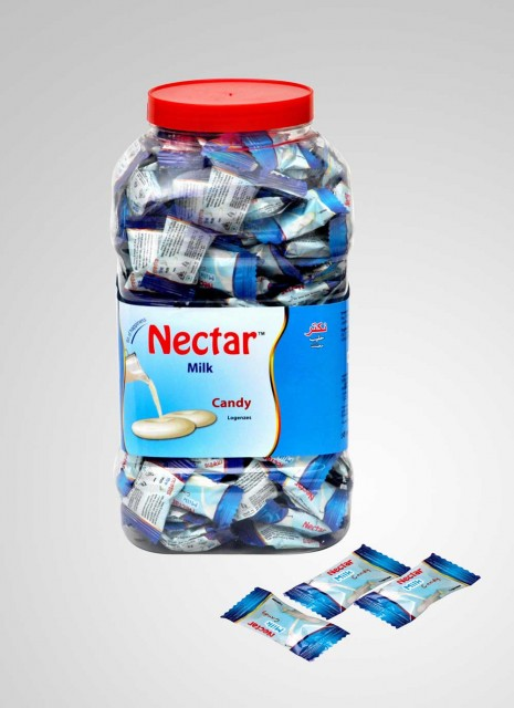 NECTAR HARD CANDY, FLAVOR : MILK/LYCHEE/G. MANGO/ TAMARIND / CHOCOLATE/ENERGY CANDY TRANSPARENT SACHET