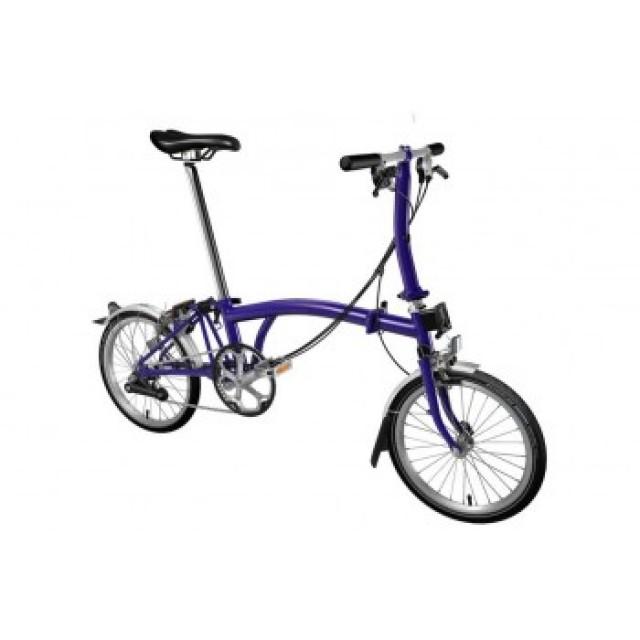 Brompton S6L 2020 Folding Bike Purple (USD 1039)