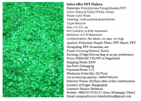 Want to sell PET Flakes