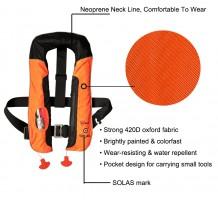 Eyson OEM Best Quality Rescue Life Jacket Inflatable