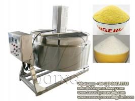 100kg per hour garri fryer machine for small scale garri making