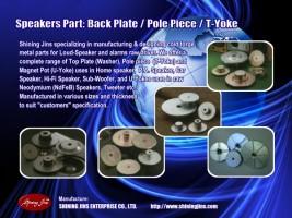 Speakers part T-yoke pole plate washer